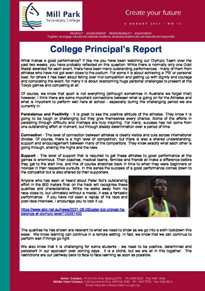 MPSC Newsletter No 12 - 6 August 2021